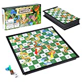 Diealles Shine Snakes and Ladders, Jeu Serpents et Échelles Traditionnel, Jouet Traditionnel