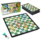Diealles Shine Snakes Ladders Game, Traditional Snakes and Ladders Board Game for Kids & Adults