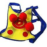 HUJUNG Dodgetag Juego Set Dodgeball Juego Chalecos con Bolas Dodgeball Chaleco de Pelota pegajoso para niños Juego de Actividades al Aire Libre