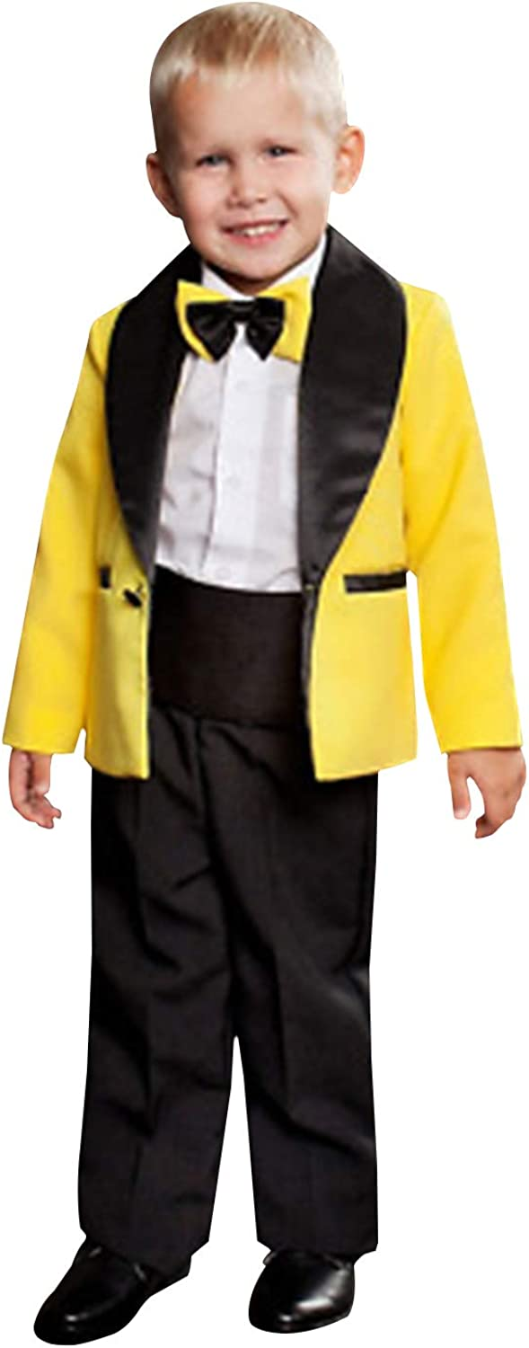 P&G Boys' Suit Two Pieces One Button ShawlLapel for Wedding Tuxedos Set
