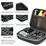 Middle Protective Carrying Case for GoPro Hero 9, 8, Hero(2018) Hero 7 Black, Hero 6,5, 4, LCD, Black, 3+, 3, 2 and… 9 CARRYING CASE FOR GOPRO CAMERA ACCESSORIES AND OTHER ACTION CAMERA:this carrying case is designed for gopro HERO 9, (2018), hero 7 black,hero 6,hero 5 black, gopro hero 4, gopro hero3, gopro hero3+, gopro hero 2, gopro HD, LCD,and other gadgets for the gopro camera KEEP YOUR MEMORIES SAFE AND SOUND USING ONE MEDIUM CASE - Our compact and easy to carry GoPro camera accessory gives you the opportunity to store your device in a safe and protective case, made to endure all the extreme action you put it through! MAKE SURE EVERYTHING YOU NEED IS AT YOUR FINGERTIPS - The incredible foam interior is specially designed to give you easy access to all the compartments. As a result, you will be able to find your accessories quickly when the action is heating up!