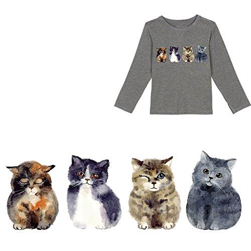 lailongp Aufnäher zum Aufbügeln mit niedlicher Katze, Bestickter Aufnäher, DIY Draft, Kleidung Rucksack, Pullover, Festival