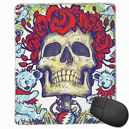 Grate-ful Dead Mouse Pad Dancing Bear Printed Mousepad Colorful Gaming Mouse Pads Non - Slip Rubber Base for Computer Game 7.1x8.7 in/18x22 cm