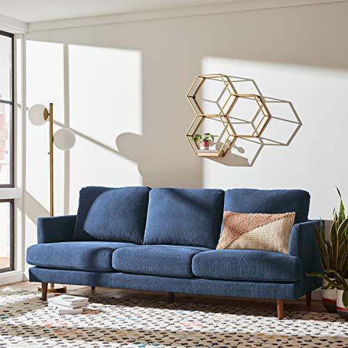 "Amazon Brand – Rivet Goodwin Modern Sofa, 88.6""W, Navy Blue"