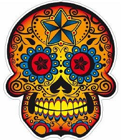 Day of the Dead Decal Rockabilly Rock Vintage Sugar Skull Sticker #7
