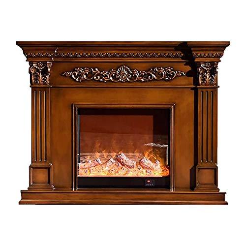 HYDDG Calentador eléctrico de chimenea tallado decorativo gabinete manto estufa eléctrica calentador...