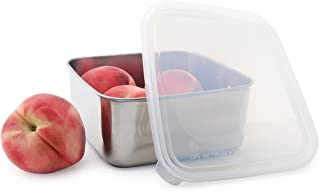 U-Konserve - To-Go Container, Stainless Steel, Ideal for Lunches, Picnics and Travel, Dishwasher Safe (Large, Stainless/Clear)
