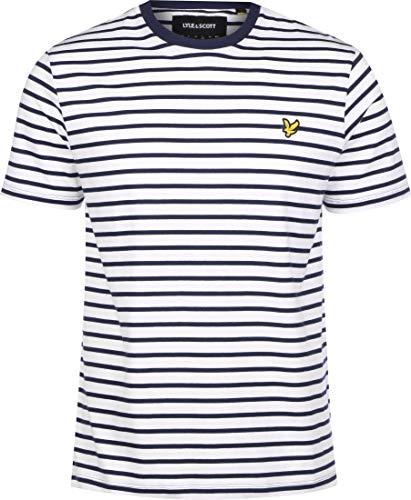 Lyle and Scott Breton Stripe T-Shirt Herren dunkelblau/weiß, M