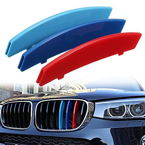 housesweet M Farbe Auto Kühlergrill Streifen Abdeckung Aufkleber Clips für BMW 5er E60 04-10
