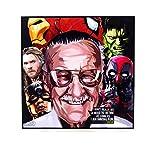 Pop-Art Superhelden-Zitate – Iron Man Marvel Avengers – gerahmtes Acryl-Leinwand, Kunstdruck, Moderne Wanddekoration, 25,4 x 25,4 cm Modern 10 x 10 inch Stan Lee