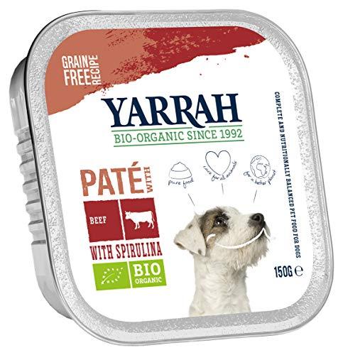 Yarrah Pate Rind Spirulina 150g Bio Hundefutter, 12er Pack (12 x 0.15 kg)