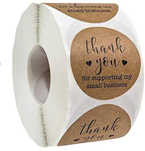 Gracias por su apoyo a mi pequeña empresa de papel kraft