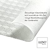 LILENO HOME Molton Tischpolster als Tischdeckenunterlage in weiß (110 x 160cm) - wasserdichte u. rutschfeste Tischunterlage als idealer Schutz für Tisch - Unterlage eckig für alle Tischdecken - 4