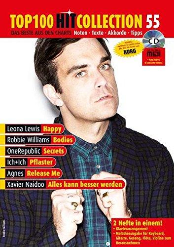 Top 100 Hit Collection 55: 6 Chart-Hits: Happy - Bodies - Secrets - Pflaster - Release Me - Alles kann besser werden. Mit MIDI- und Playback-CD.. Band ... Ausgabe mit CD-Extra. (Music Factory)