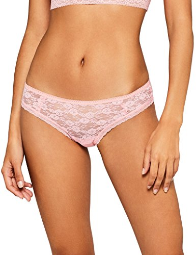 Amazon-Marke: Iris & Lilly Damen Bikini Slip Soft Lace, Rosa (Pink), M, Label: M