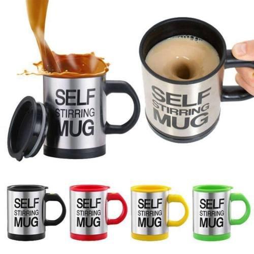 Sunshine D Die selbstrührende Tasse Lazy Mug by Creations Elektrische Becher Twister Mug Schwarz