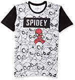Spiderman By Kidsville Boy's Plain Regular fit T-Shirt (STY-19-20-000764 White 9-10 Years)