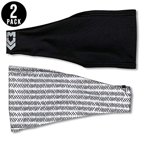 MUV365 Headbands for Women | Workout, Running, Yoga, Wide Sports Head Bands | Headband Protects with UPF 50+, Keeps Sweat from Dripping in Eyes & is Non-Slip