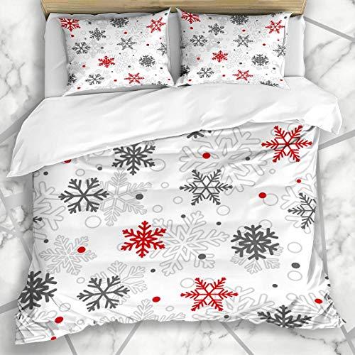 Conjuntos de funda nórdica Decoración de patrón de Navidad Copos de nieve...