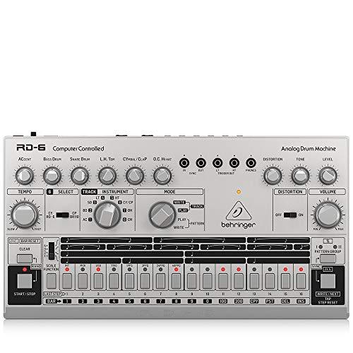Behringer アナログドラムマシン USB/DIN MIDI対応 16ステップシーケンサー アナログディストーション搭載 RD-6-SR シルバー