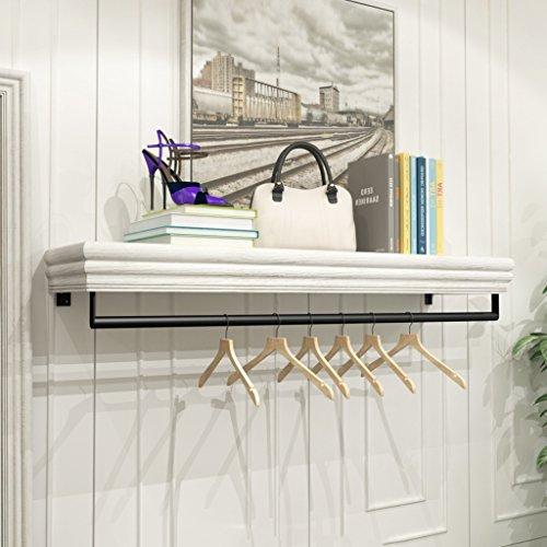Porte-manteau SKC Lighting en Bois De Fer Forgé Blanc Retro Crochet Wall Hanger Combinaison Vêtements Rack Convient pour Salon/Chambre/Étude/Vestiaire (60CM, 120CM) (Taille : 60 cm)