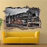 Doumaishop Wandtattoo Vintage Retro Steam Zug Wandsticker3Dartmuralroombüroshopdekorwohnzimmerschlafzimmer