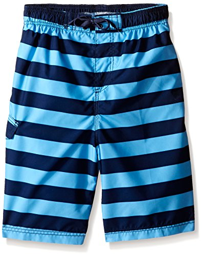 Kanu Surf Boys' Big Specter Quick Dry UPF 50+ Beach Swim Trunk, Troy Navy/Blue, 14/16