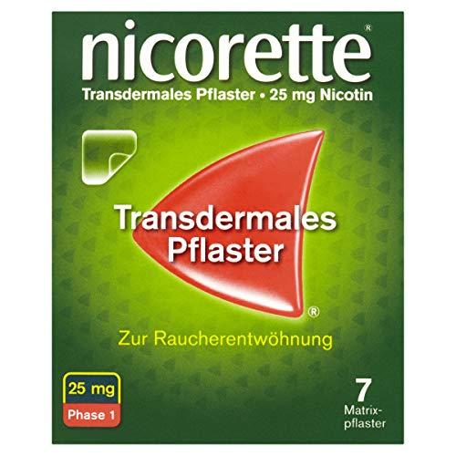 NICORETTE Pflaster mit 25 mg Nikotin – mit Nikotinpflaster Rauchen aufhören – für Phase 1 der Raucherentwöhnung bei mehr als 20 Zigaretten am Tag