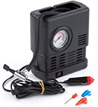 PrimeTrendz TM 300 PSI Portable 12 Volt Air Compressor - Compact and Fast Air Inflator with Pressure Gauge 300 PSI - Air Pump / Auto Repair Tire Tool Kit. Ideal for Car, Truck, SUV, Bike, Caravan, Camping beds, Sporting Goods, etc By USA CASH AND CARRY.