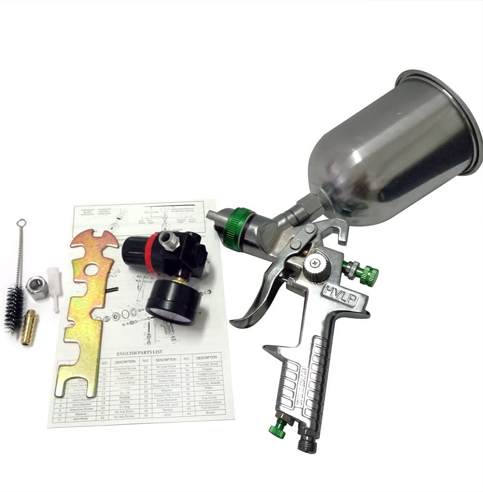 BHJKL 2.5mm HVLP Superior Spray Gun Kit Inventory cleanup selling sale Feed Auto Gravity Paint Pain