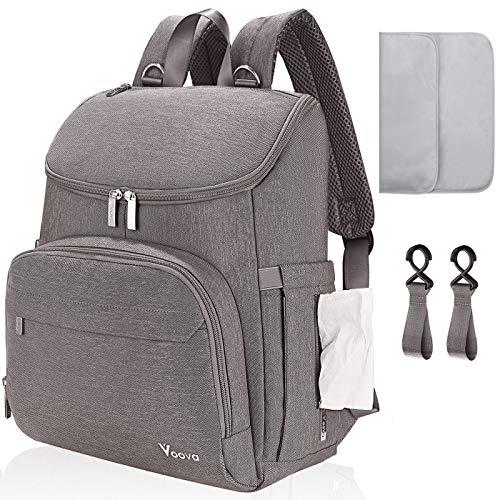 Voova Baby Changing Bag Backpack, Waterproof Large Capacity Travel Diaper...