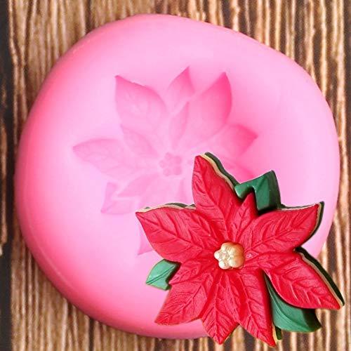 UNIYA Poinsettia Flower Silicone Mold Wedding DIY Cake Decorating Tools Fondant Baking Cookie Chocolate Candy Moulds