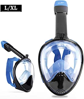 XY Swimming Goggles - Snorkeling Sambo Full-Dry Goggles Adult Children Snorkel Set Snorkeling mask Snorkeling Equipment Water Sports Glasses (Color : Blue, Size : S/M)