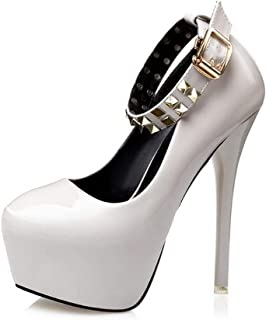 Ying-xinguang Shoes Fashion with Rivets Super High Heels Women's High-Heeled Shoes Comfortable