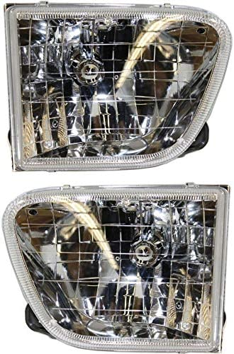 Headlight Set Compatible with 1998 2001 Mercury Mountaineer Left Driver and Right Passenger product image