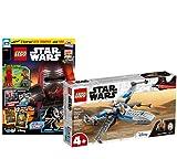 Lego 75297 Star Wars Resistance X-Wing 75297 + libro Lego Star Wars nº 74 (cómics, póster) con minifiguras Finn y Sith Trooper