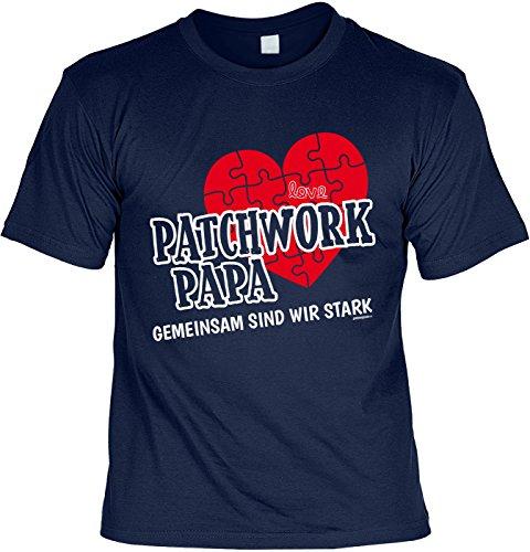 Vatertag T-Shirt Familie Geschenk Vater Stiefvater Patchwork Papa GEMEINSAM SIND WIR STARK Geburtstagsgeschenk Papa Vatertagsgeschenk Geburtstag Dankeschön zu Weihnachten Vater Gr: XXL :
