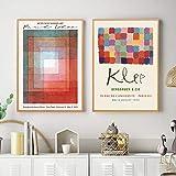 WKAQM Paul Klee Klassische Leinwand Wandkunst Wohnzimmer