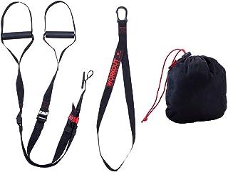 吊り訓練ベルトプルロープホームフィットネス弾力ベルト抵抗ベルト強度トレーニング (色 : 黒)