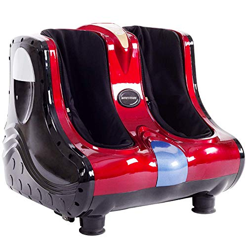 Fantastic Deal! Electric Heated Shiatsu Feet Massager with Massage Rollers,3 Levels Available,Carry Handle,Non-Slip Brackets,Detachable Covers,Adjustable tilt Base