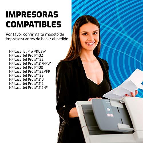 QP85AD 2 Toners Compatible para HP CE285A 85A y HP Laserjet Pro P1100 P1102 P1102W P1109W M1132 M1132MFP M1212NF M1217NFW Laser Impresora, 1600 Páginas
