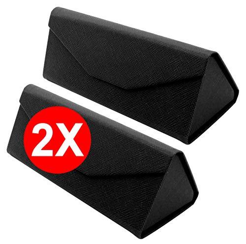 TBOC Funda Plegable Gafas de Sol – [Pack: 2 Unidades] Estuche [Negro]...