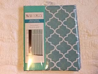 Waverly Buzzing About Green/White Dragonflies Fabric Shower Curtain 70