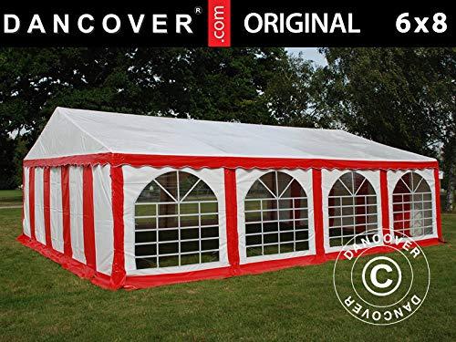 Dancover Partytent Original 6x8m PVC, Rood/Wit