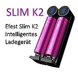 Efest Slim K2–Batería de Ion de Litio batería Cargador 2A para 18650104401450016340146501665017650176701849018350185001870020700217002550026650