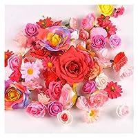 造花 結婚披露宴の家の装飾のための造花 (Color : Pinkred)