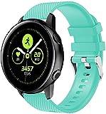 Cinturino per Orologio compatibile con Galaxy Watch Active/Active 2 / Active 3 / Watch 42mm, Ricambio di Cinturino di Silicone per Uomo e Donna, Caucciù Sgancio Rapido per Orologi (20mm, Pattern 12)
