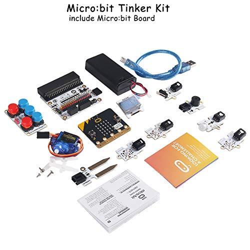 MakerFocus Micro:bit Tinker Kit Include Micro:bit Board, Micro:bit Breakout Board, Octopus PIR Sensor Module Used for Classroom Teaching and for DIY Beginners