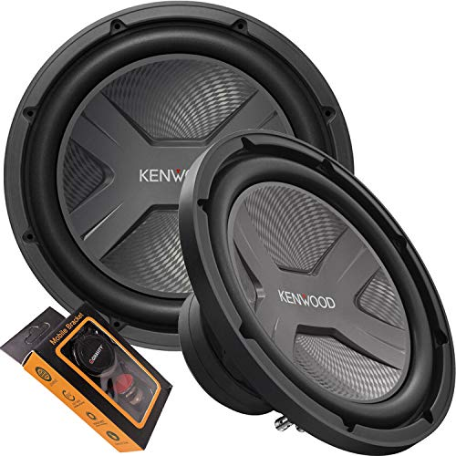 Kenwood KFC-W3041 12' 4 Ohm 2000W Car Subwoofer (Single) with Gravity Magnet Phone Holder Bundle
