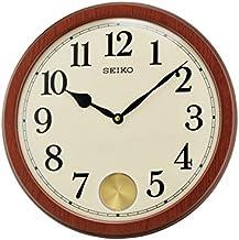 Seiko Wall Clock (35.6 cm x 35.6 cm x 6.1 cm, Brown, QXC233BN)